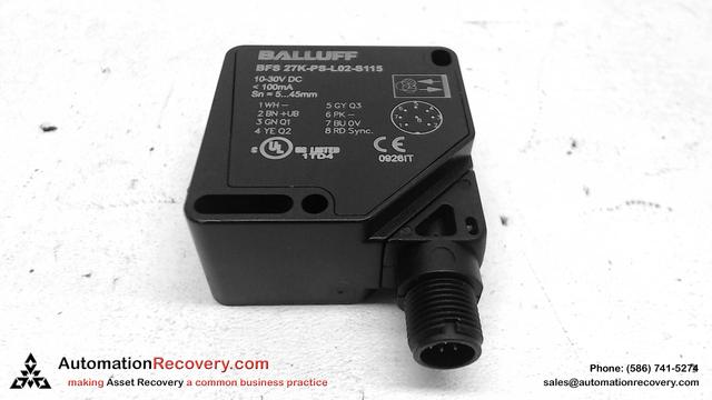 BALLUFF BFS 27K-PS-L02-S115 PHOTOELECTRIC SENSOR - Automation Recovery