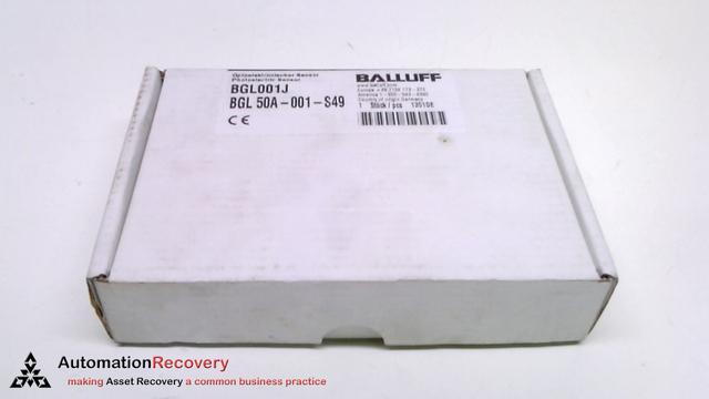 NEW BALLUFF BGL-5A-001-S49 BGL001W 10-30VDC PNP NC//NO PHOTOELECTRIC