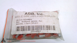 ABB 030446503 - PACK OF 100 - SINGLE WIRE INSULATED FERRULES 10.00MM2
