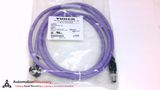 TURCK RSSW WKSW 456-2M CORDSET 5 POLE MALE STRAIGHT FEMALE 90 DEGREE