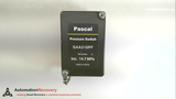 PASCAL SAA210PF, PRESSURE SWITCH,  SET PRESS. INC. 14.7 MPA