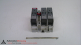 ABB OS 30FACC12, FUSIBLE DISCONNECT SWITCH, 3 POLE, 30A, 600VAC